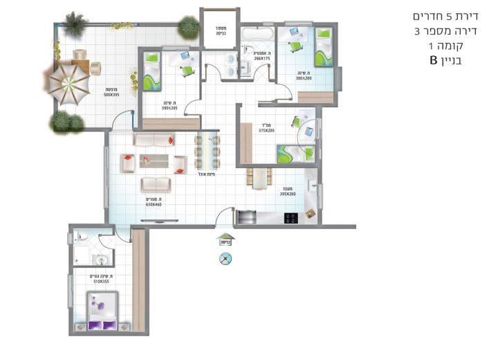 דירת-5-חדרים-דירה-מספר-3-קומה-1-בניין-B