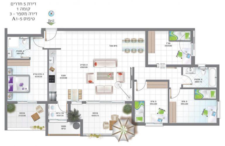 דירת-5-חדרים-קומה-1-מספר-3