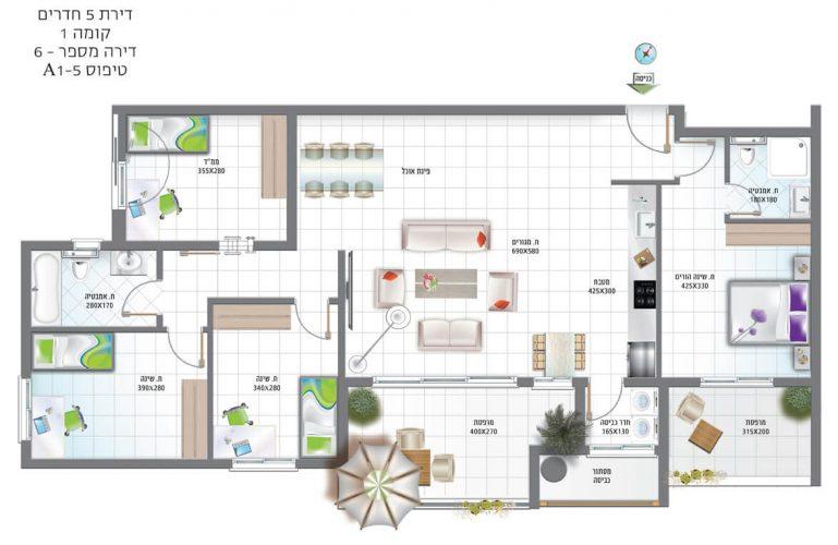 דירת-5-חדרים-קומה-1-מספר-6